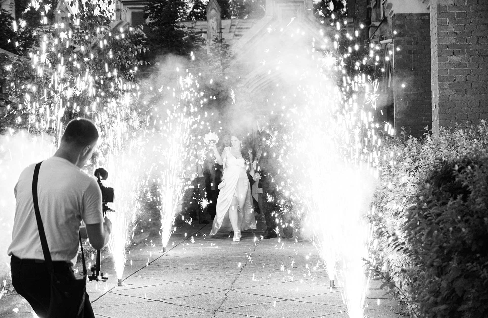 bryllupsfest fyrverkeri