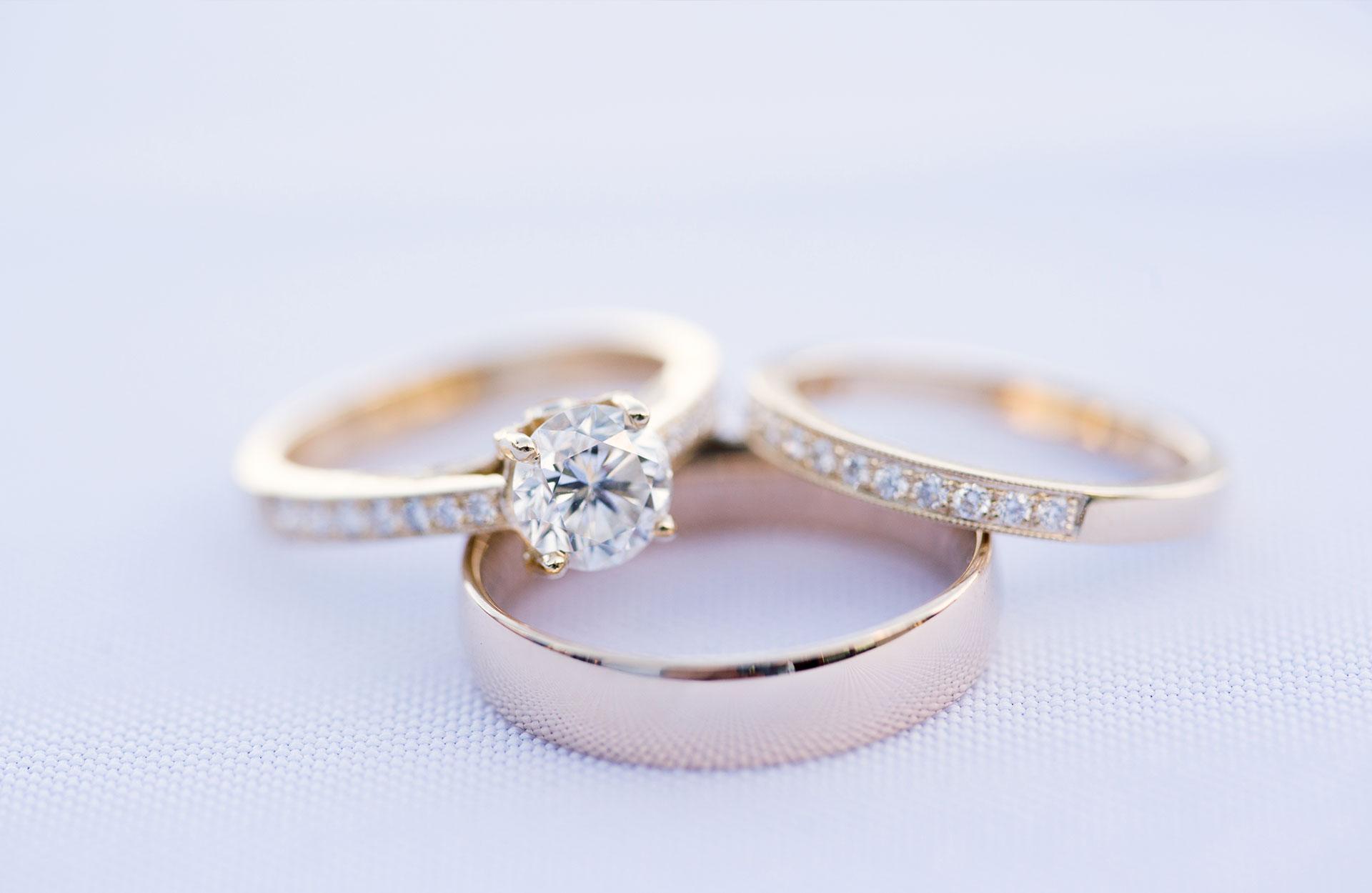 Diamant - vielsesringe